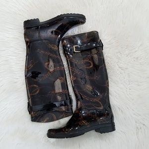 Lauren Ralph Lauren Rossalyn Black Print Boots